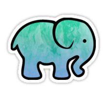 ad184c9d8 Elephant Sticker Yeti Stickers
