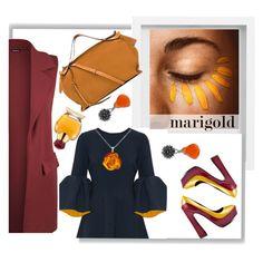 """Marigold Girl"" by sofiaputina ❤ liked on Polyvore featuring Pottery Barn, Roksanda, Sister Jane, Loewe, NOVICA, Blink, WearAll, Oleg Cassini, Be-Jewelled and marigold"