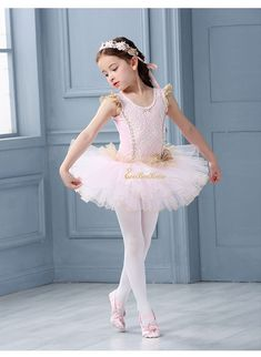 Pop Lady Tutu Skirt Professional Graceful Child Little Swan Ballet Dance Costume