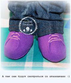 Ботиночки для куклы - мой вариант. - Форум