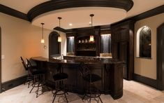Wet Bar Basement Bar Designs, Home Bar Designs, Basement Bars, Basement Ideas, Wet Bar Cabinets, Wet Bar Sink, Wet Bars, Home Cinemas, Rooftop Bar
