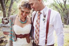 LOVE everything about this fun boho wedding!