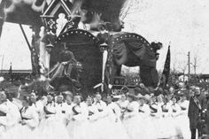 Rare photograph of Lincoln funeral procession in Chicago.