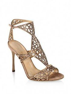 17a25cc2c63c SERGIO ROSSI Tresor Swarovski Crystal And Suede Sandals.  sergiorossi   shoes  sandals Ankle