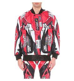 KTZ Motocross Print Bomber Jacket. #ktz #cloth #coats & jackets