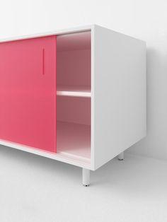 Shift sliding door storage cabinet by Scholten & Baijings for Pastoe.