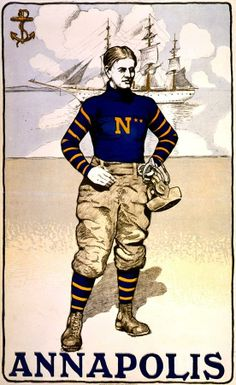 Old US Naval Academy Annapolis Mids Football Poster Bristow Adams Navy Football, Vintage Football, Football Cards, Football Players, College Football, Naval Academy Football, Annapolis Naval Academy, Go Navy Beat Army, New Print