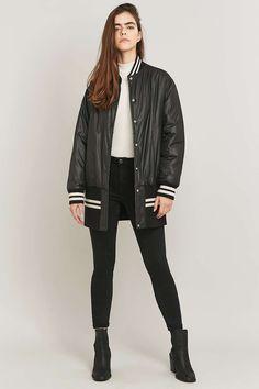 MM6 Reversible Black Nylon Sports Jacket