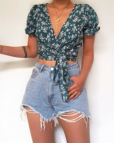 25 Casual Summer Outfits for Teen Girls and Women for Cute Comfy Simple Style Teenage Outfits, Teen Fashion Outfits, Mode Outfits, Look Fashion, Girl Outfits, Street Fashion, Blue Skirt Outfits, Fashion Hats, Daily Fashion