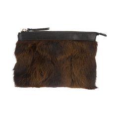 Rika Rabbit Fur Clutch Bag