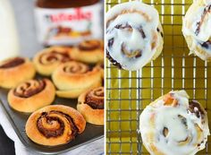 Nutella Cinnamon Rolls 17 Easy Breakfasts You Can Make In A Muffin Tin Muffin Tin Breakfast, What's For Breakfast, How To Make Breakfast, Breakfast Dishes, Breakfast Recipes, Breakfast Sandwiches, Breakfast Cookies, Breakfast Casserole, Muffin Tin Recipes