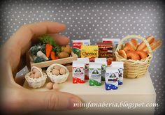 Miniaturowy Świat Lady Fanaberii: Miniaturowe jedzenie handmade
