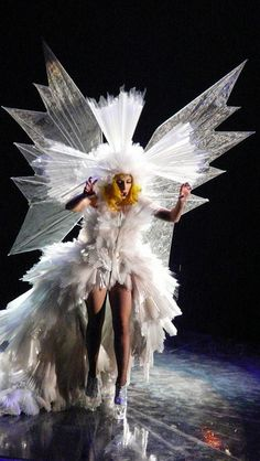 Emphasis: Lady gagas outfits fit in the emphasis category because they are very noticeable and the center of attention.