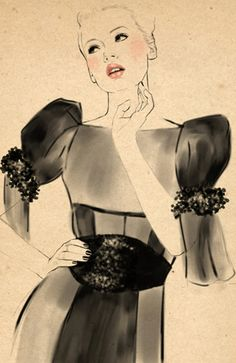 Fashion illustration by Sandra Suy.