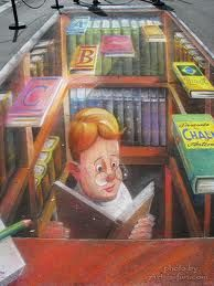 Library Chalk Art