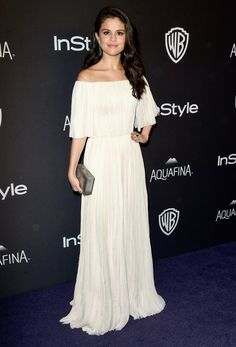 Pin for Later: The Afterparties Deliver Another Dose of Golden Globes Glamour Selena Gomez Wearing a J. Mendel gown and Jacob & Co. jewels.