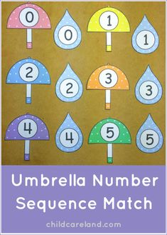 This week's free printable is Umbrella Number Sequence Match which is a great activity for number recognition and review. Available until Sunday April 6th ... after that they will be available in the member's section of the site.