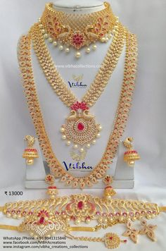 Fulfill a Wedding Tradition with Estate Bridal Jewelry Antique Jewellery Designs, Gold Earrings Designs, Gold Jewellery Design, Cz Jewellery, Designer Jewellery, Jewlery, South Indian Bridal Jewellery, Indian Wedding Jewelry, Wedding Jewelry Sets