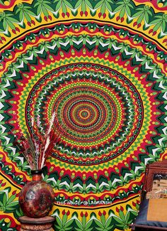 Psychedelic Pot Leaf Wall Tapestry $16.99