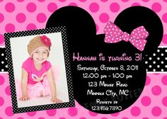 Mouse Inspired Birthday Invitation Mouse by TheTrendyButterfly, $15.00
