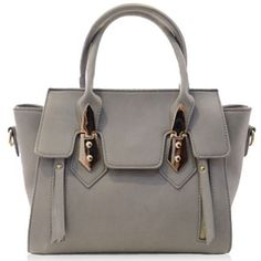 Fashion Metallic and PU Leather Design Women's Tote Bag.