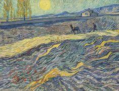 Laboureur dans un champ, St Remy - Vincent van Gogh 1889