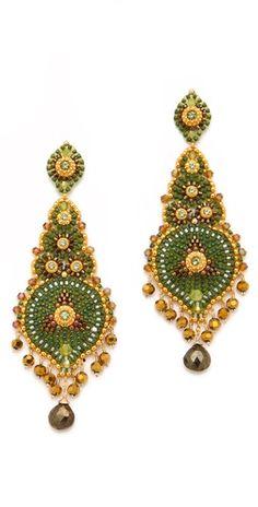 Miguel Ases Metallic Crystal Earrings
