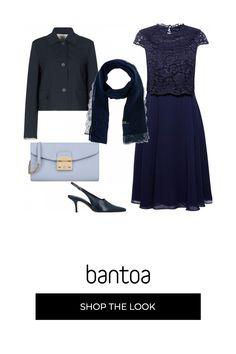 1ef94a54f624 Cerimonia nunziale Blu e azzurro  outfit donna Bon Ton per cerimonia
