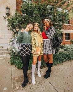 Cher Clueless Halloween Costume, Three Person Halloween Costumes, Grease Halloween Costumes, Trio Costumes, Halloween Costumes For Teens, Cute Costumes, Halloween Ideas, Costume Ideas, Cher Costume