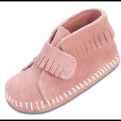 Minnetonka-brown- Baby-Boots-Size-4-Adorable-Warm-Booties-Moccassin.