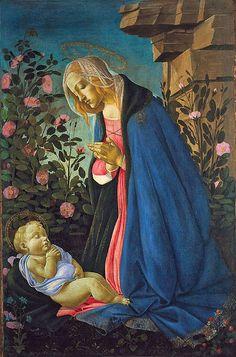 ART BLOG: Sandro Botticelli - The Virgin Adoring the Sleeping Christ Child c.1485