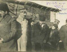 Mersin ATATÜRK ve LATİFE HANIM ve Fahrettin Altay Paşa MERSİN Artezyen'de 1925 Fotoğraf