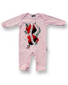 MOM DAD HEARTS pink, Six Bunnies Baby, Playsuit at Switchblade Clothing