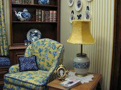 Dollhouse Miniature Furniture - Tutorials | 1 inch minis: How to make a miniature lamp shade