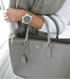 Grey & Gold Handbag