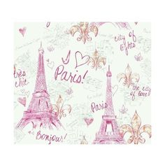 York Wallcoverings PW3910 Paris Wallpaper White Background / Pink / ($57) ❤ liked on Polyvore featuring home, home decor, wallpaper, map wallpaper, pink heart wallpaper, removable wallpaper, pattern wallpaper and pink wallpaper