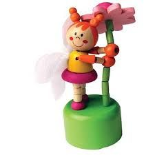 These wobbly wooden fairies are really gorgeous retro toys which children love. Press the button and watch them wobble! Cheap Toys, Pocket Money, Wooden Pegs, Retro Toys, Child Love, Wood Toys, Gift Store, Classic Toys, Puppets