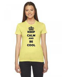 keep calm and be cool Ladies Fitted T-Shirt