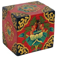 Tibetan Trinket Box Hand made in Nepal Zen, Artisanal, Tibet, Trinket Boxes, Decoration, Nepal, Decorative Boxes, How To Make, Handmade