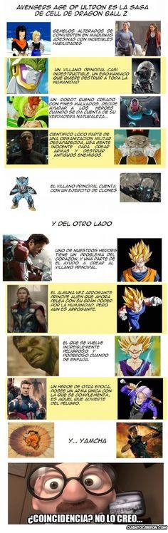 Vengadores es la saga de Célula de Dragon Ball Z