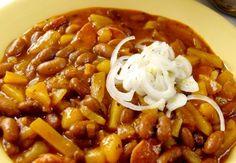 FAZOLOVÝ GULÁŠ   Recepty Vegan Recipes, Cooking Recipes, Lentils, Chili, Paleo, Food And Drink, Soup, Menu, Diet