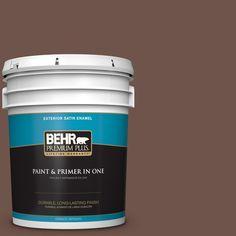 BEHR Premium Plus 5-gal. #N150-6 Coffee Beans Satin Enamel Exterior Paint