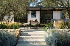 Montecito family home gets remarkable indoor-outdoor makeover Indoor Outdoor, Outdoor Spaces, Outdoor Living, Outdoor Kitchens, Landscape Design, Garden Design, House Design, Exterior Design, Interior And Exterior