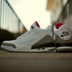 Nike Air Jordan 3 Retro - best edition ever Air Jordan 3, Air Jordan Shoes, Shoes Jordans, Jordan Sneakers, Men Sneakers, Basketball Sneakers, Nike Outfits, Discount Jordans, Handball