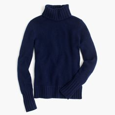 J.Crew Gift Guide: women's Collection cashmere chunky turtleneck sweater.