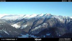 #Alba in #ValdiSole vista da #Rifugio #Orso #Bruno nella #ski area più grande in #Trentino a #Folgarida #Marilleva nel cuore tra le #Dolomiti di #Brenta, l'#Adamello e il gruppo #Ortles #Cevedale.