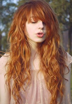 Gorgeous red hair with natural waves
