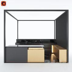 3d models: Kitchen - Kitchen Island Installation