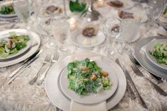 Seated Salad by Avenue Catering Concepts #Atlanta #Wedding #Catering