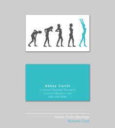 Massage Therapist Business Card by Felicia Santos, via Behance